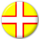 Dorset County Flag 25mm Pin Button Badge